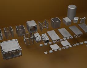 3D model Set of details 44 pieces
