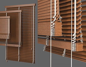 Set Blinds Wooden 1 3D model
