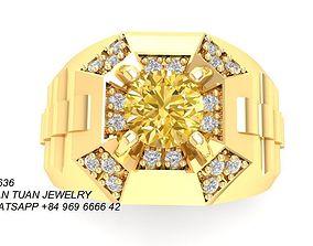3D print model 636 Diamond Men Ring