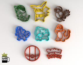 Molde cortante de galletas fondant de pokemon impresion