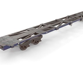 Low poly PBR container rail wagon 3D asset