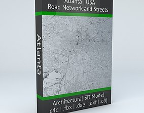 3D Atlanta Road Network and Streets