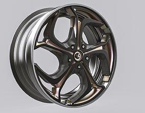 chrome alloy wheel 3D