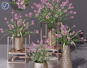 3D model Pink lilac Bouquet Pot
