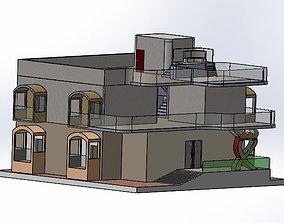 3D printable model Modern House apartment