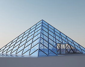 3D Glass Pyramid