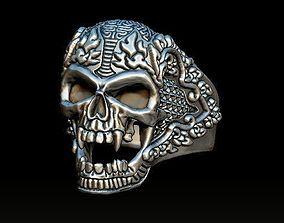3D printable model skull-ring ring skull