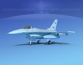 3D model Gen Dyn F-16A Falcon V28 Egypt