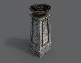 3D asset game-ready Fire column