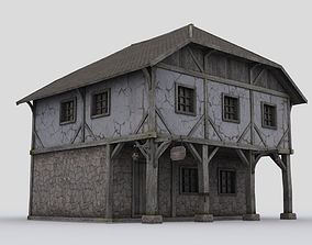 House 3D asset game-ready