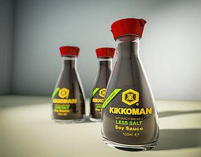 3D asset Kikkoman soya sauce Vectorworks