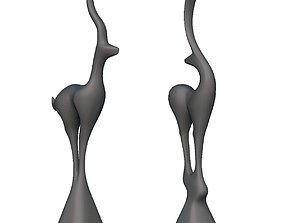 Deer Standing Deco 3D print model