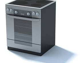 3D model Stainless Glass Top Oven