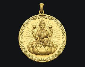 3D print model Laxmi Coin Pendant