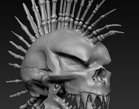 jaw 3D printable model Mohawk Skull