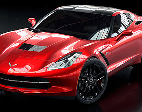 3D model Corvette Stingray 2019 vehicle
