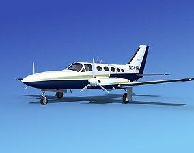 Cessna 414A Chancellor V03 3D model