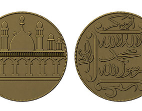 3D print model Old Islamic Coin