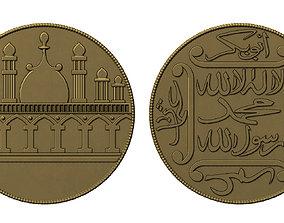 3D print model Old Islamic Coin
