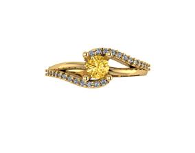 gold Dress Ring or Engagement Ring 3D print model