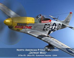 3D North American P-51D - Detroit Miss