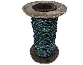 3D asset Rope Roll 04