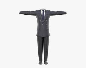 3D model low-poly Business Suit for Men v2