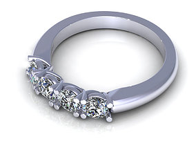 3D print model Round Four Stone Engagement Ring