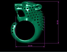 cheetah cat 3D printable model PANTHER RING