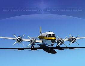 3D Douglas DC-7C Air Europe