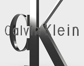3D model calvin klein logo clothing