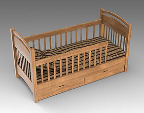3D model bed Baby Crib