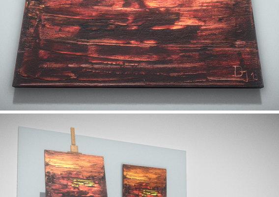 Goldschimmer - Oil Painting