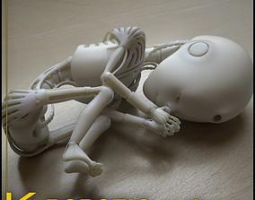 miniatures 3D print model Robot 01 embryo