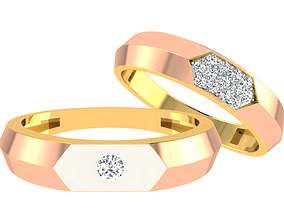 3D print model Couple Band Ring couple