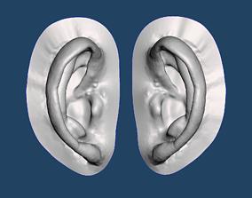 3D printable model Natural human ear anatomy 06