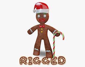 3D asset Gingerbread Man Rigged