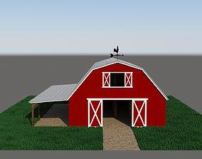 wood 3D model American style barn