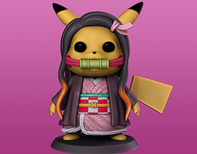 3D print model Pikachu cosplay Nezuko