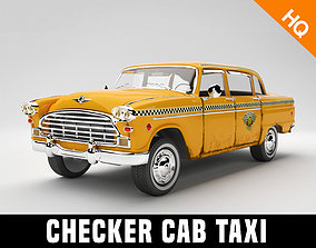 3D model Taxi Car Old Checker Cab Taxi Chicago
