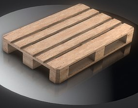 3D asset EUR Wood Pallet - Low-Poly Version