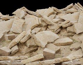 Pile of Rock Debris 3D asset