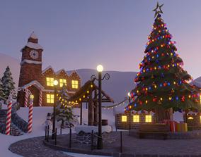 Christmas Town 3D asset