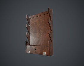 Wooden Weapon Rack 1 PBR Game Ready 3D model