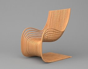 Wooden Parametric Chair 3D model
