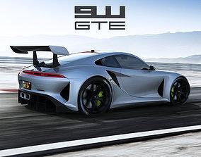 3D model Porsche 911 GTE concept by emrEHusmen