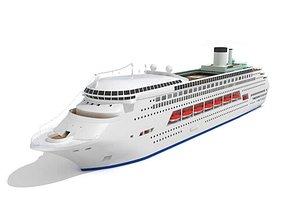 White Cruise Liner 3D model