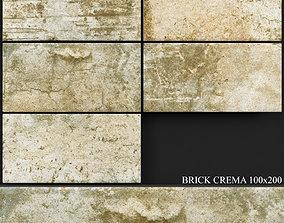 3D model Keros Brick Crema 100x200