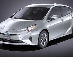 Toyota Prius 2018 VRAY 3D model