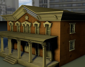 two storey mini-mansion 3D model